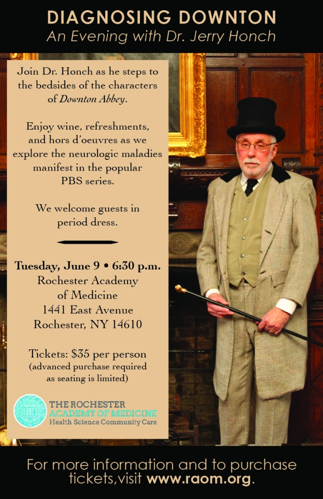 Diagnosing Downton poster for the Rochester Academy of Medicine