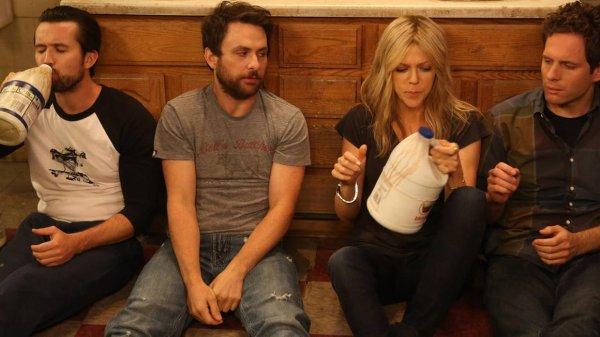 "Mac, Charlie, Dee, and Dennis in ""It's Always Sunny in Philadelphia"""